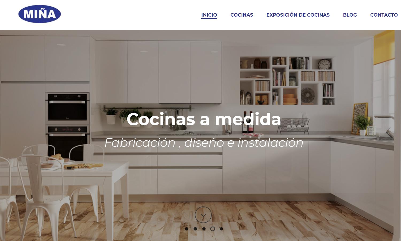 Página Web Cocinas Miña