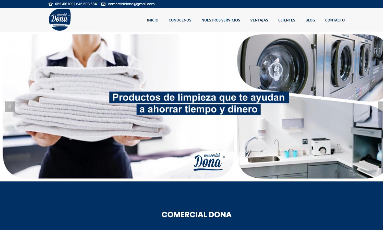 Página Web Comercial Dona