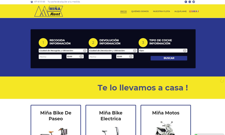 Página Web Miña Rent