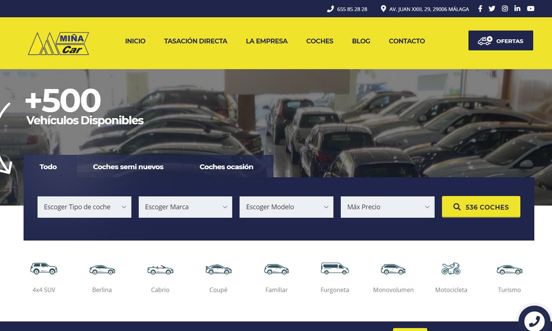 Página Web Miña Car