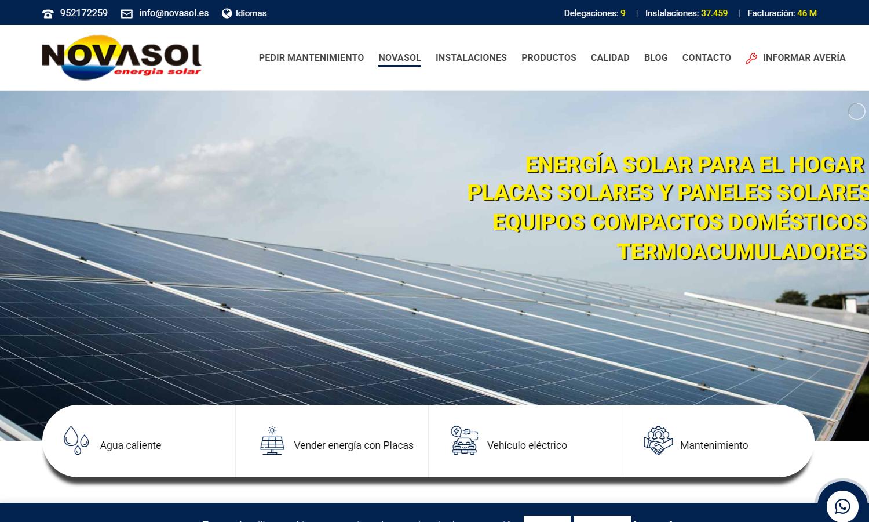 Página Web Novasol