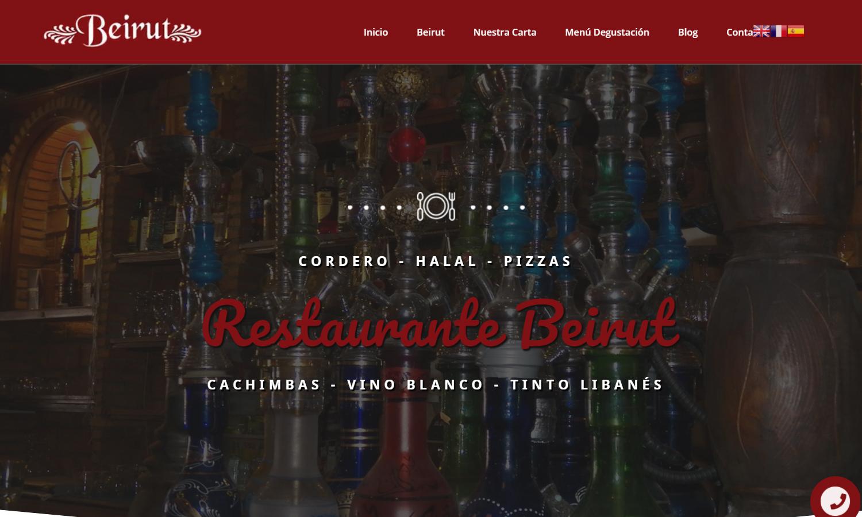 Página Web Restaurante Beirut