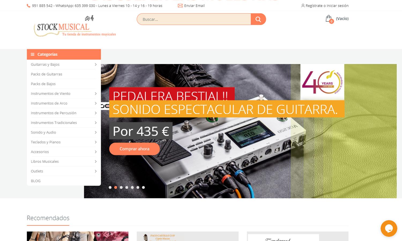 Página Web Stockmusical