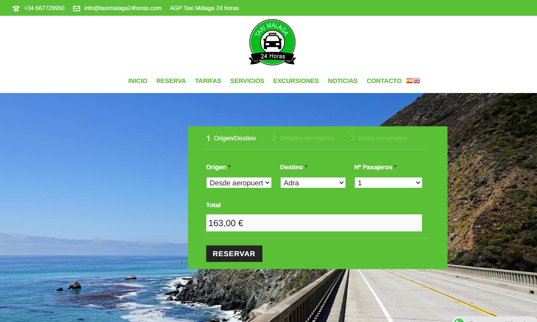Página Web Taxi Málaga