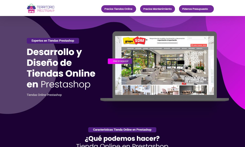 Diseño Web Territorio Prestashop