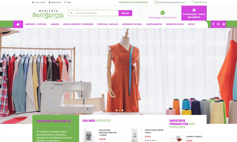 Diseño Tienda Online Mercería San García