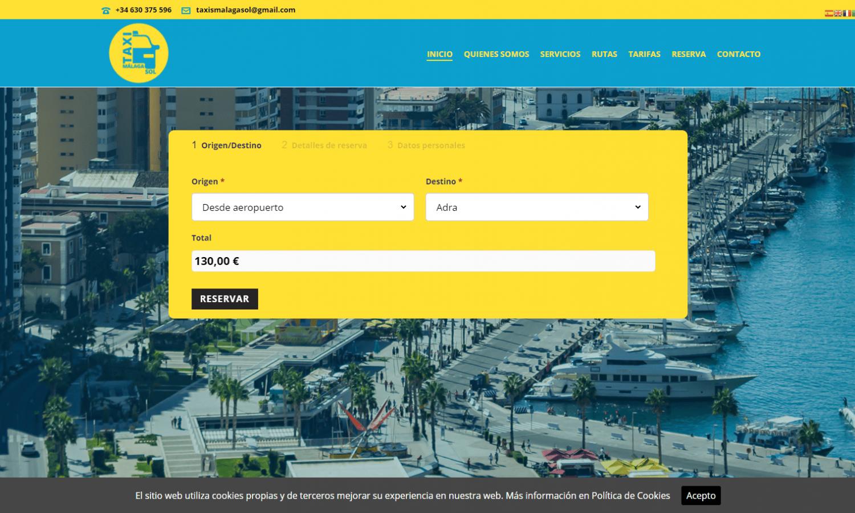 Página Web Taxi Málaga Sol