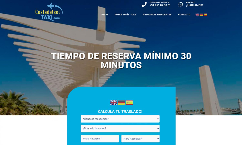 Diseño Web Costa del Sol Taxi